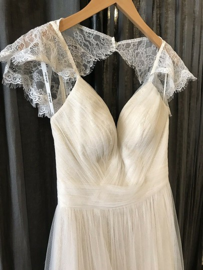 Stella York Ivory French Tulle and Lace 6199 Vintage Wedding Dress Size 8 (M) Image 4