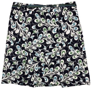 Ann Taylor LOFT Career Summer Mini Skirt Navy Blue