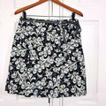 Ann Taylor LOFT Career Summer Mini Skirt Navy Blue Image 2