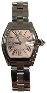 Cartier Women's Cartier Roadster Stainless Steel Quartz with Pink Bezel