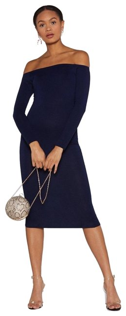 Preload https://img-static.tradesy.com/item/25267416/nasty-gal-navy-in-stretch-off-the-shoulder-mid-length-short-casual-dress-size-4-s-0-3-650-650.jpg