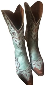 Old Gringo turquoise and brown Boots