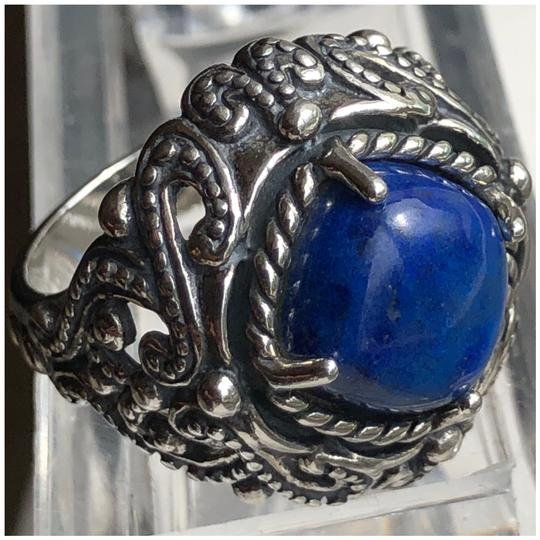 Preload https://img-static.tradesy.com/item/25267475/carolyn-pollack-blue-silver-and-oxidized-finish-black-large-cocktail-lapis-lazuli-925-ster-ring-0-0-540-540.jpg