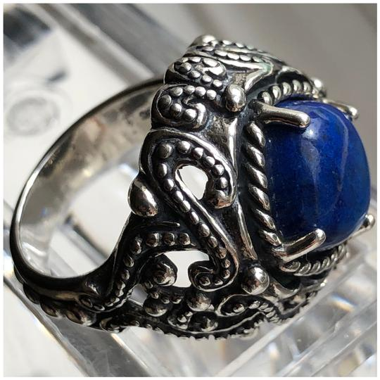 Carolyn Pollack Large Cocktail Lapis Lazuli 925 STER Silver Ring Image 1