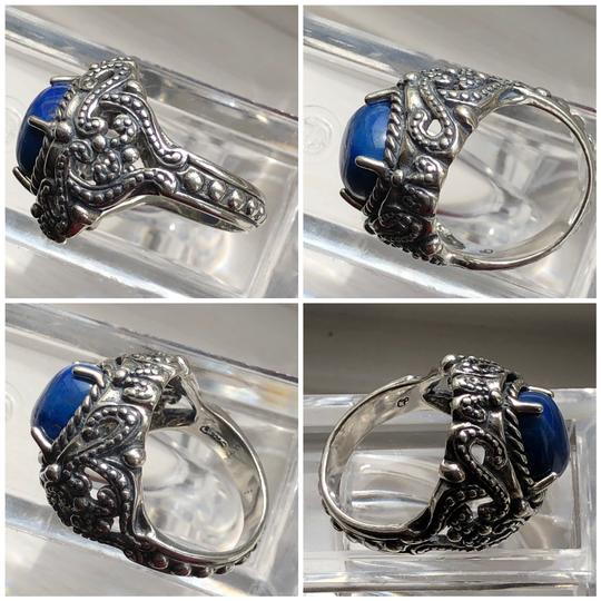 Carolyn Pollack Large Cocktail Lapis Lazuli 925 STER Silver Ring Image 3