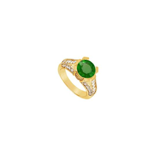 Preload https://img-static.tradesy.com/item/25267486/green-created-emerald-and-cubic-zirconia-engagement-14k-yellow-gold-10-ring-0-0-540-540.jpg