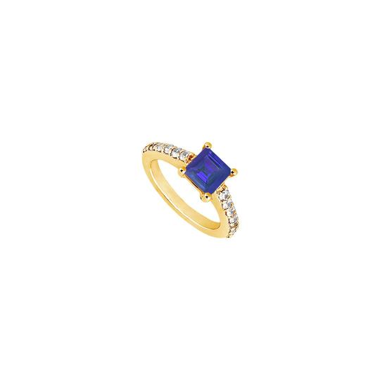 Preload https://img-static.tradesy.com/item/25267512/blue-created-sapphire-and-cubic-zirconia-engagement-14k-yellow-gold-1-ring-0-0-540-540.jpg