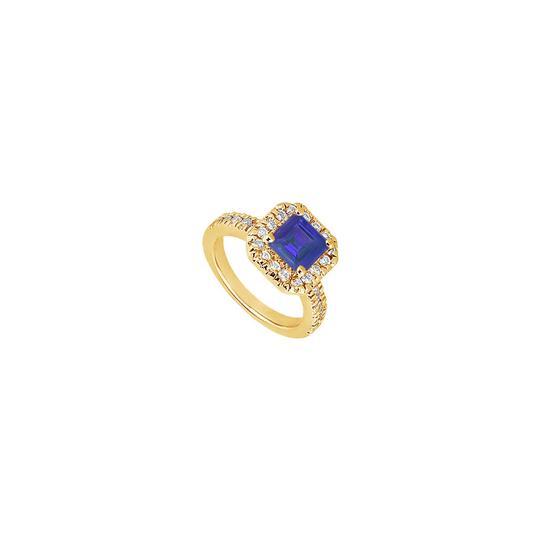 Preload https://img-static.tradesy.com/item/25267544/blue-created-sapphire-and-cubic-zirconia-engagement-14k-yellow-gold-1-ring-0-0-540-540.jpg
