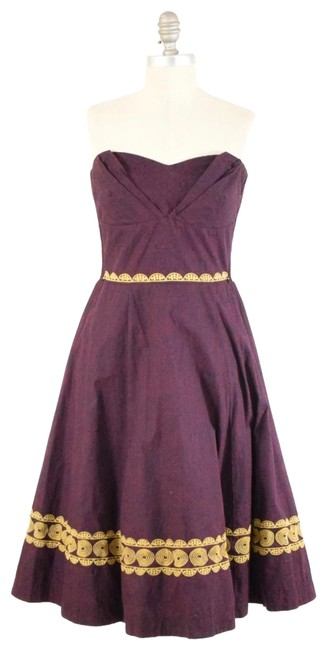 Preload https://img-static.tradesy.com/item/25267548/anthropologie-burgundy-fit-and-flare-mid-length-cocktail-dress-size-4-s-0-1-650-650.jpg