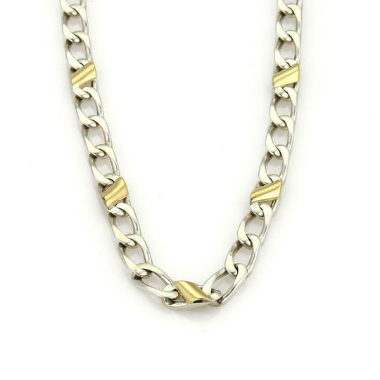 Preload https://img-static.tradesy.com/item/25267573/tiffany-and-co-59877-sterling-silver-18k-yellow-gold-curb-link-chain-necklace-0-0-540-540.jpg