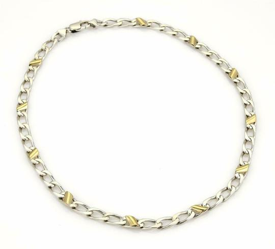 Tiffany & Co. Sterling Silver 18k Yellow Gold Curb Link Chain Necklace Image 1