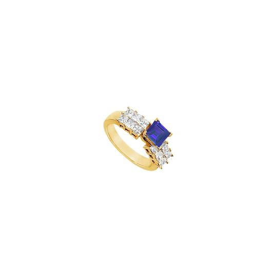 Preload https://img-static.tradesy.com/item/25267604/blue-created-sapphire-and-cubic-zirconia-engagement-14k-yellow-gold-1-ring-0-0-540-540.jpg