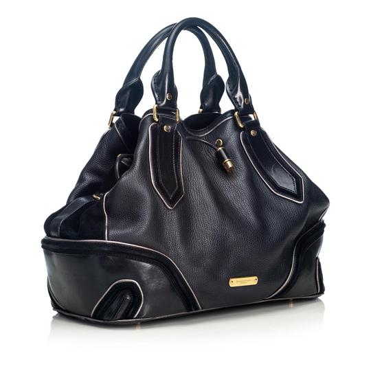 Burberry 9cbust018 Vintage Leather Satchel in Black Image 1