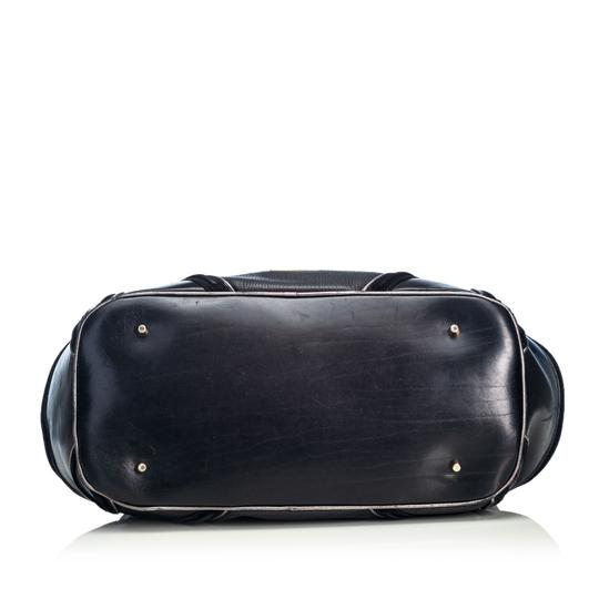 Burberry 9cbust018 Vintage Leather Satchel in Black Image 3