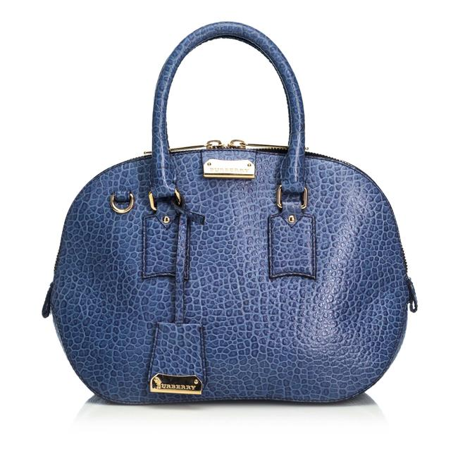 Item - Grained Orchard Romania Blue Leather Satchel