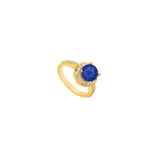 Preload https://img-static.tradesy.com/item/25267693/blue-created-sapphire-and-cubic-zirconia-engagement-14k-yellow-gold-2-ring-0-0-540-540.jpg