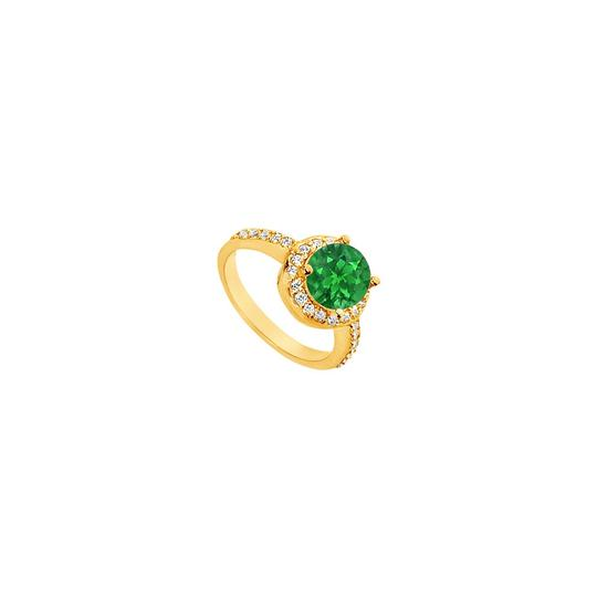 Preload https://img-static.tradesy.com/item/25267706/green-created-emerald-and-cubic-zirconia-engagement-14k-yellow-gold-25-ring-0-0-540-540.jpg