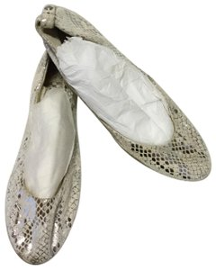 Vince Camuto White/ Silver Flats