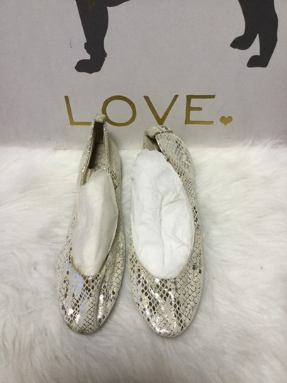 Vince Camuto White/ Silver Flats Image 1