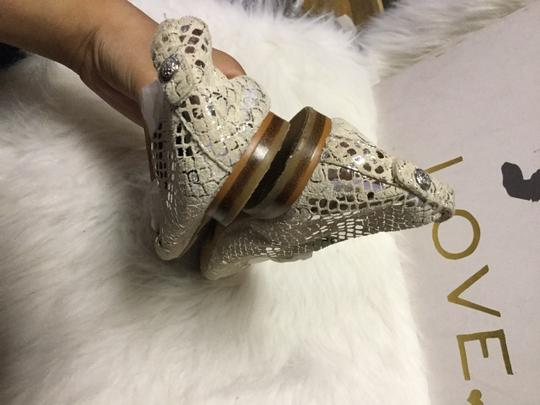 Vince Camuto White/ Silver Flats Image 3