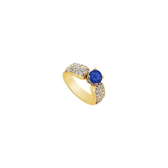 Preload https://img-static.tradesy.com/item/25267787/blue-created-sapphire-and-cubic-zirconia-engagement-14k-yellow-gold-2-ring-0-0-540-540.jpg