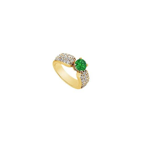 Preload https://img-static.tradesy.com/item/25267806/green-created-emerald-and-cubic-zirconia-engagement-14k-yellow-gold-20-ring-0-0-540-540.jpg