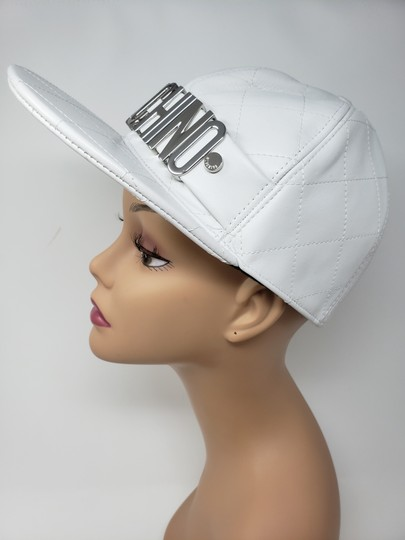 Moschino White Moschino sheepskin quilted letter logo baseball hat L sz Image 6