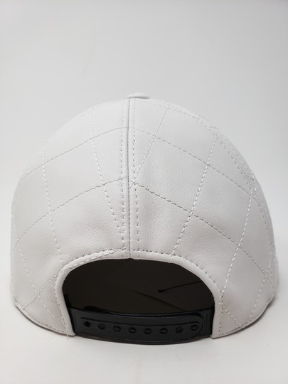 Moschino White Moschino sheepskin quilted letter logo baseball hat L sz Image 9