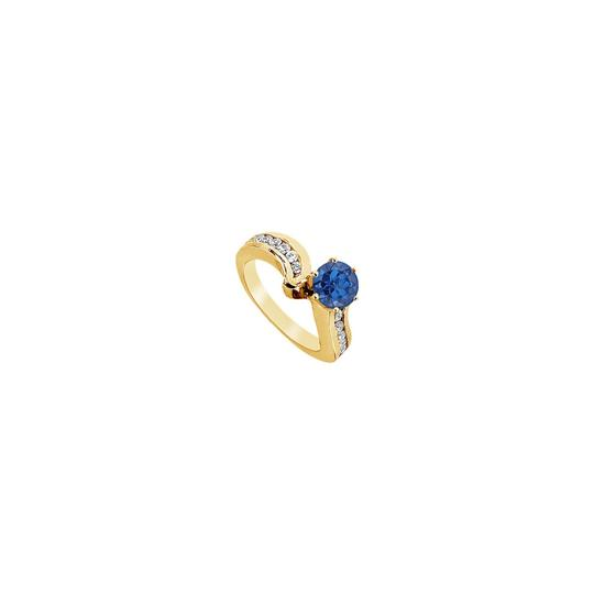 Preload https://img-static.tradesy.com/item/25267850/blue-created-sapphire-and-cubic-zirconia-engagement-14k-yellow-gold-1-ring-0-0-540-540.jpg