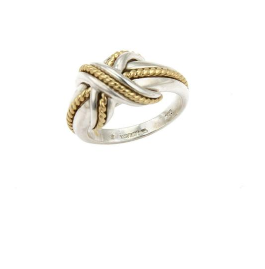 Tiffany & Co. Sterling 18k Yellow Gold X Crossover Ring Size - 4.25 Image 1