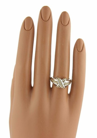 Tiffany & Co. Sterling 18k Yellow Gold X Crossover Ring Size - 4.25 Image 2
