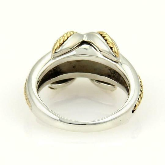 Tiffany & Co. Sterling 18k Yellow Gold X Crossover Ring Size - 4.25 Image 3