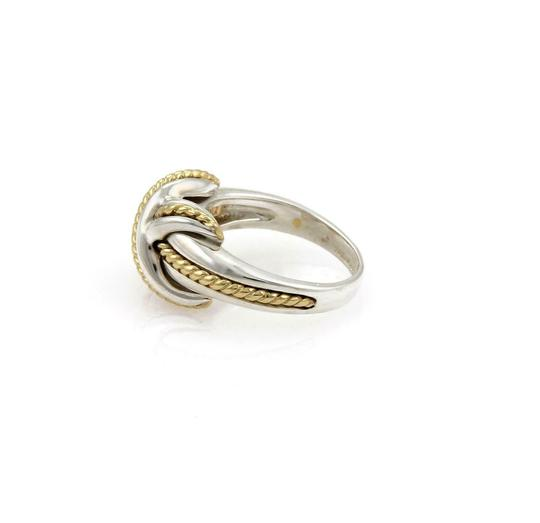 Tiffany & Co. Sterling 18k Yellow Gold X Crossover Ring Size - 4.25 Image 4