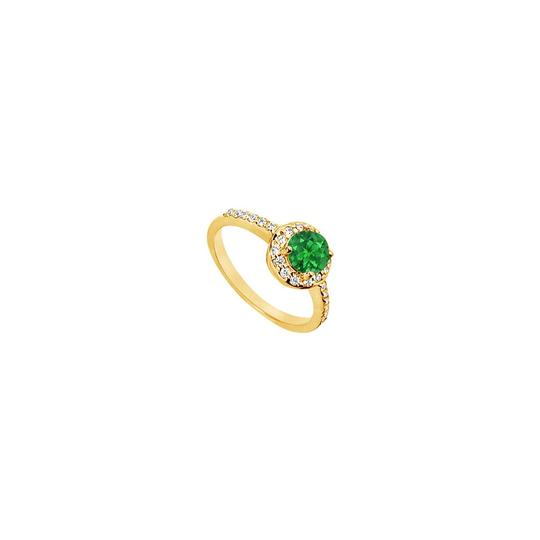 Preload https://img-static.tradesy.com/item/25267921/green-created-emerald-and-cubic-zirconia-engagement-14k-yellow-gold-15-ring-0-0-540-540.jpg