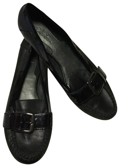 Preload https://img-static.tradesy.com/item/25268102/cole-haan-black-patent-leather-buckle-flats-size-us-95-regular-m-b-0-1-540-540.jpg