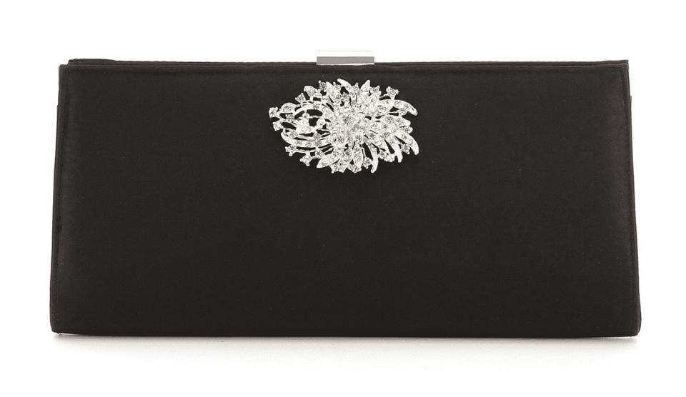 be612e7a1c Adrianna Papell H41 Scott Silverstein Satin Stacee Small Black Polyester  Clutch