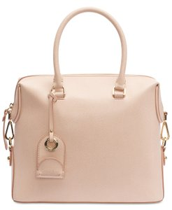 Calvin Klein Sabrina Leather New With Tag Satchel in Beige