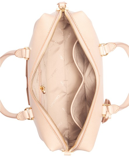 Calvin Klein Sabrina Leather New With Tag Satchel in Beige Image 2