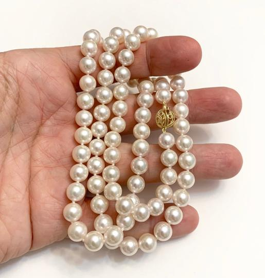 Estate CERTIFIED 5 900 LARGE 8.5 MM AKOYA PEARL 30 IN 14KT NECKLACE 13382 Image 7
