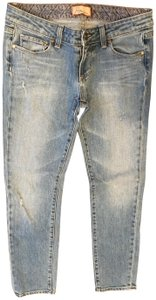 Paige Ankle Distressed Skinny Jeans-Distressed