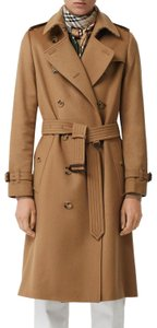 Burberry Cashmere Camle Wool Kensington Trench Coat