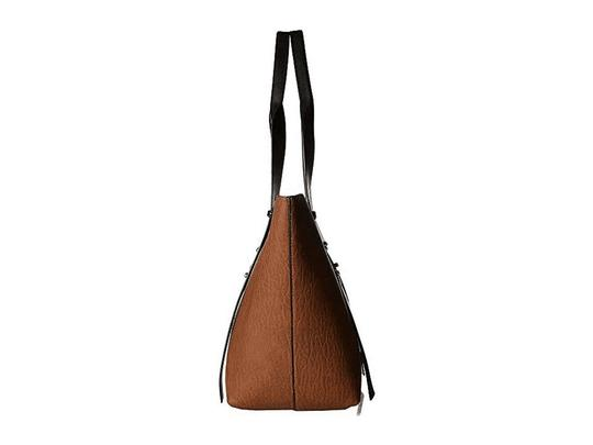 Calvin Klein Faux Leather With Tag Tote in Brown Image 1
