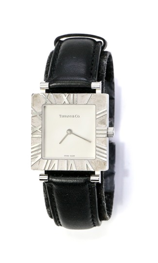 Preload https://img-static.tradesy.com/item/25268234/tiffany-and-co-sterling-silver-co-square-atlas-ladies-watch-0-0-540-540.jpg
