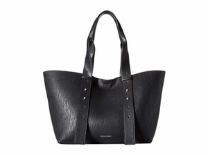 Calvin Klein Faux Leather New With Tag Tote in Black