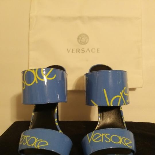Versace Blue with Versace logo Sandals Image 1