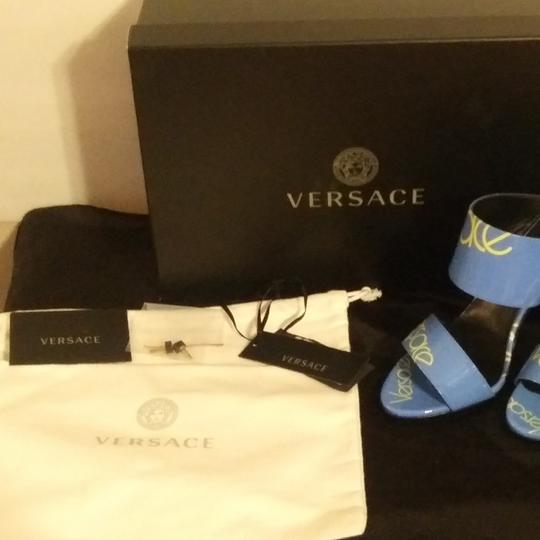 Versace Blue with Versace logo Sandals Image 10