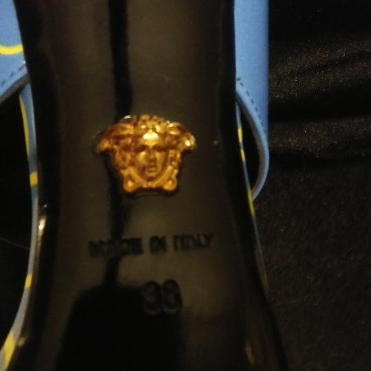 Versace Blue with Versace logo Sandals Image 3