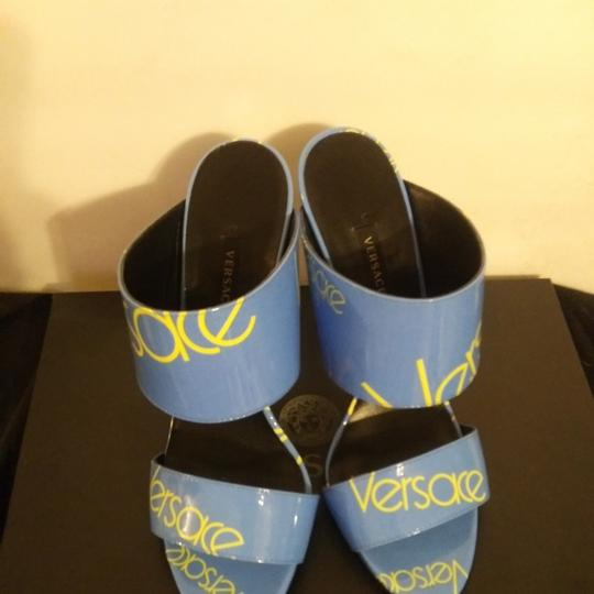 Versace Blue with Versace logo Sandals Image 5