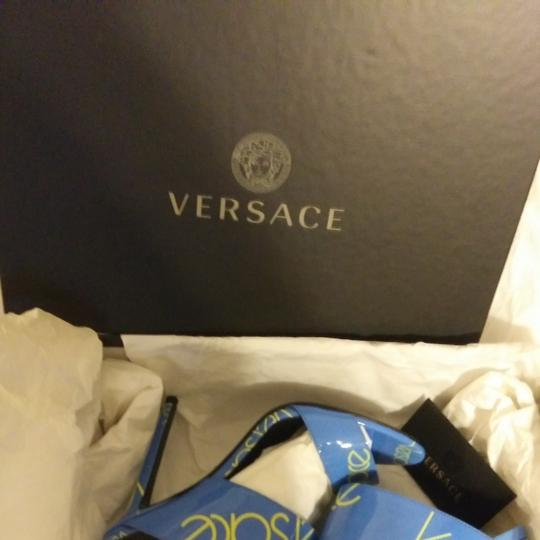 Versace Blue with Versace logo Sandals Image 6