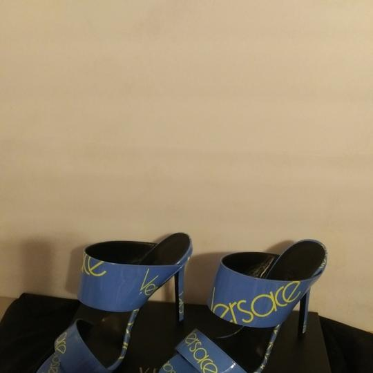 Versace Blue with Versace logo Sandals Image 9